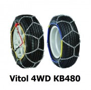 Цепи противоскольжения Vitol 4WD КВ480 для колес R16, R17