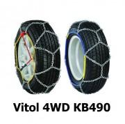 Цепи противоскольжения Vitol 4WD КВ490 для колес R15, R16, R17.5, R18, R19.5, R20