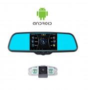 Система видеопарковки (Android): Зеркало заднего вида с DVR, Wi-Fi, GPS и камерой заднего вида Prime-X 043/105
