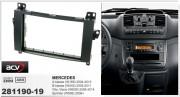 Переходная рамка ACV 281190-19 для Mercedes A-класса, B-класса, Viano, Vito, Sprinter / Volkswagen Crafter, 2DIN