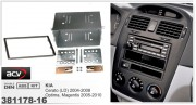 Переходная рамка ACV 381178-16 для Kia Cerato (2004-2008), Optima, Magentis (2005-2010), 2DIN