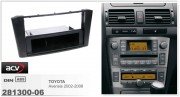 Переходная рамка ACV 281300-06 для Toyota Avensis 2002-2008, 2DIN / 1DIN
