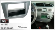 Переходная рамка ACV 281328-03 для Seat Leon 2005-2009, 2DIN / 1DIN