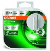Комплект ксеноновых ламп Osram D3S Xenarc Ultra Life 66340ULT Duobox