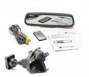 Штатное зеркало заднего вида с монитором и видеорегистратором Phantom RMS-430 DVR Full HD-35 для Volkswagen, Skoda, Seat