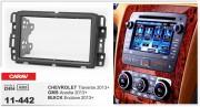 Переходная рамка Carav 11-442 для Chevrolet Traverse 2013+, Buick Enclave 2013+, GMC Acadia 2013+, 2DIN