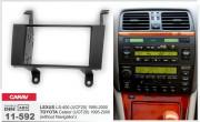 Переходная рамка Carav 11-592 для Lexus LS 400 / Toyota Celsior, 2 DIN