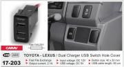 USB разъем (интерфейс) Carav 17-203 в штатную заглушку для автомобилей Toyota / Lexus
