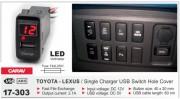 USB разъем (интерфейс) с цифровым вольтметром Carav 17-303 в штатную заглушку для автомобилей Toyota / Lexus