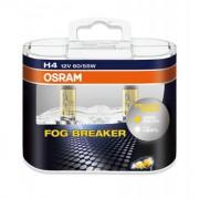 Комплект галогенных ламп Osram Fog Breaker 62193FBR-HCB Duobox +60% (H4)