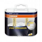 Комплект галогенных ламп Osram Fog Breaker 64211FBR-HCB Duobox +60% (H11)