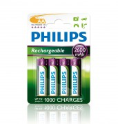 Philips Аккумулятор Philips Rechargeables R6B4B260/10 (AA)