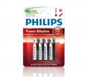 Батарейки Philips LR03 AAА Power Alkaline (LR03P4B/10)