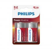 Батарейки Philips D Power Alkaline (LR20P2B/10)