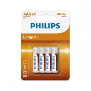 Батарейки Philips R03 AAA LongLife (R03L4B/10)