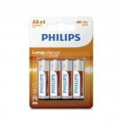 Батарейки Philips R6 AA LongLife (R6L4B/10)