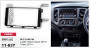 Переходная рамка Carav 11-637 для Mitsubishi L200, Triton, Pajero Sport 2015+, 2 DIN