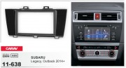 Переходная рамка Carav 11-638 для Subaru Legacy, Outback 2014+, 2 DIN