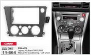 Переходная рамка Carav 11-664 для Subaru Legacy, Outback 2003-2009, 2 DIN