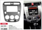 Переходная рамка Carav 11-669 для Honda Ballade 2011-2014, City 2008-2014, 2 DIN