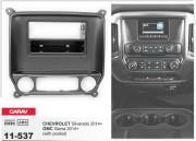 Переходная рамка Carav 11-537 для Chevrolet Silverado (GMC Sierra) 2014+, 2 DIN / 1 DIN