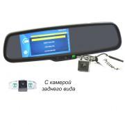 Штатное зеркало заднего вида с монитором, видеорегистратором и камерой заднего вида Prime-X 050D Full HD