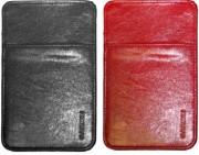 Чехол кожаный чёрный (красный) для Garmin Nuvi 2xxW, 6хх, 7xx, 8xx