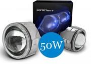 Би-ксеноновые линзы Infolight G4 50w с ангельскими глазками