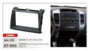 Carav  Переходная рамка Carav 07-002 Lexus GX470 2002 - 2009, Toyota Land Cruiser Prado 120 2002 - 2009, 2 DIN