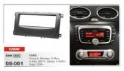 Carav Переходная рамка Carav 08-001 Ford Mondeo 2007+, Focus II 2007+, C-Max 2007+, S-Max 2007+, Kuga 2008+, Galaxy 2006+, 1 DIN