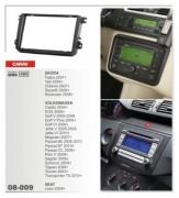 Carav Переходная рамка Carav 08-009 Skoda Octavia, Fabia, SuperB, Rapid, Seat Leon, VW Passat B6/B7, T5, Caddy, Jetta, Polo, 2 Din