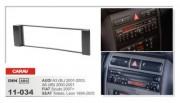 Carav Переходная рамка Carav 11-034 Audi A3 (8L) 2001-2003, A6 (4B) 2000-2001, Seat Toledo, Leon 1999-2005, Fiat Scudo 2007+, 1 DIN