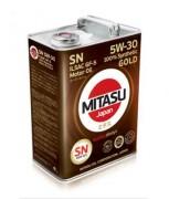 Моторное масло Mitasu GOLD SN 5W-30 ILSAC GF-5 (MJ-101)