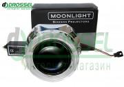 Би-ксеноновые линзы Moonlight G5 H1 2.5` (65мм) с ангельскими глазками
