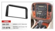 Carav Переходная рамка Carav 11-078 Lexus LX-470 (1998 - 2002), Toyota LC100 (1998 - 2003), 2 DIN