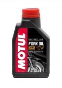 Синтетическое мотоциклетное масло для телескопических вилок Motul Fork Oil Factory Line Medium 10W (1л)