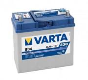 Аккумуляторная батарея VARTA B34 BLUE dynamic 545158033 45 А/Ч (Левый+)