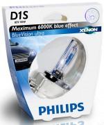 Philips Ксеноновая лампа Philips D1S BlueVision ultra 85415 BVU S1