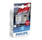 Комплект светодиодов Philips X-tremeVision (P21W / BA15S) 12898X2