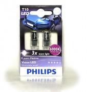 Комплект светодиодов Philips Vision WBT10 (T10 / W5W) 12934LEDX2 6000K