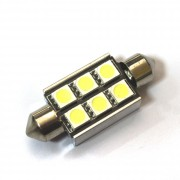 —ветодиодна¤ лампа Zax LED C5W (SV8,5) CAN 5050 6SMD 36mm White (Ѕелый)