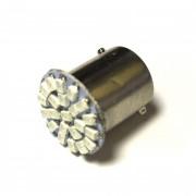Светодиодная лампа Zax LED S25 (P21W 1156 BA15S) 1210 22SMD Yellow (Желтый)