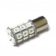 Светодиодная лампа Zax LED S25 (P21W 1156 BA15S) 5050 27SMD Yellow (Желтый)