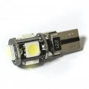 —ветодиодна¤ лампа Zax LED T10 (W5W) CAN 5050 5SMD White (Ѕелый)