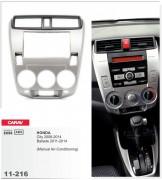 Переходная рамка Carav 11-216 Honda City 2008-2014, Ballade 2011-2014 (Manual Air-Conditioning), 2-DIN