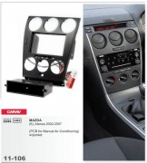 Carav Переходная рамка Carav 11-106 Mazda (6), Atenza 2002-2007 w/pocket (PCB for Manual Air-Conditioning), 2/1 DIN