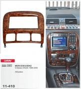Переходная рамка Carav 11-410 Mercedes-Benz S-klasse (W220) 1998-2005 (Wooden), 2-DIN
