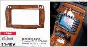 Переходная рамка Carav 11-409 Mercedes-Benz CL-klasse (C215) 2002-2006, S-klasse (W220) 2002-2006 (Wooden), 2-DIN
