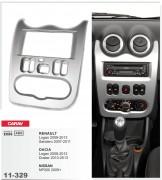 Переходная рамка Carav 11-329 Renault Logan, Sandero / Dacia Logan, Duster / Nissan NP200, 2-DIN