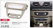 Переходная рамка Carav 11-418 Renault Megane III 2008+, Fluence 2010+ (Grey), 1-DIN